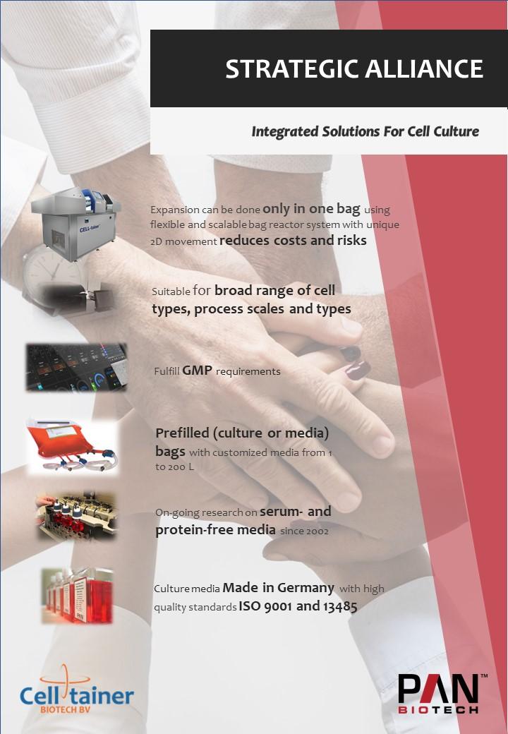 strategic alliance Celltainer Biotech PAN biotech